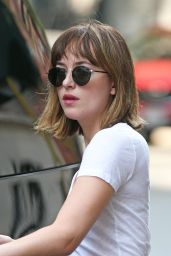 Dakota Johnson in Jeans - Out in New York City, August 2015