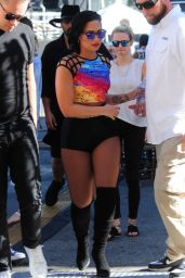 Demi Lovato at Jimmy Kimmel Live in Hollywood, August 2015