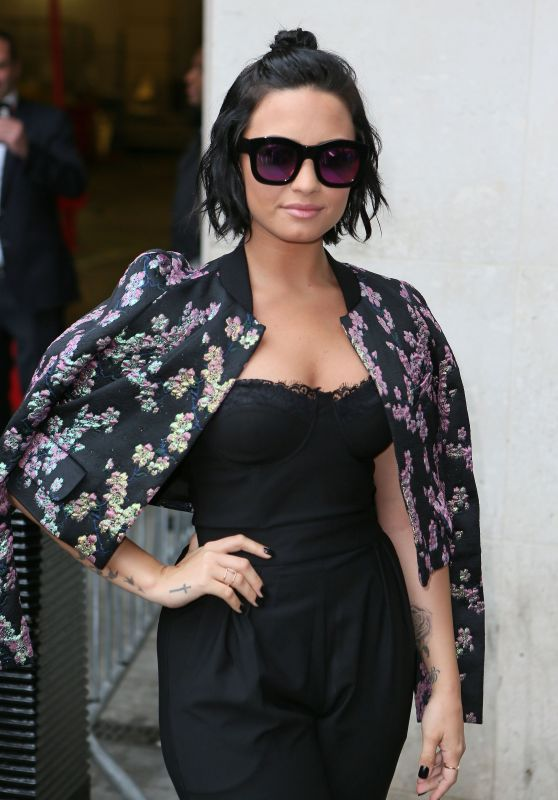 Demi Lovato at the BBC Radio 1 Studios in London, September 2015