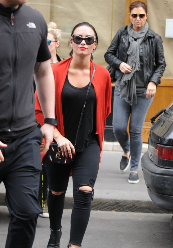 Demi Lovato - Out and About Paris, September 2015