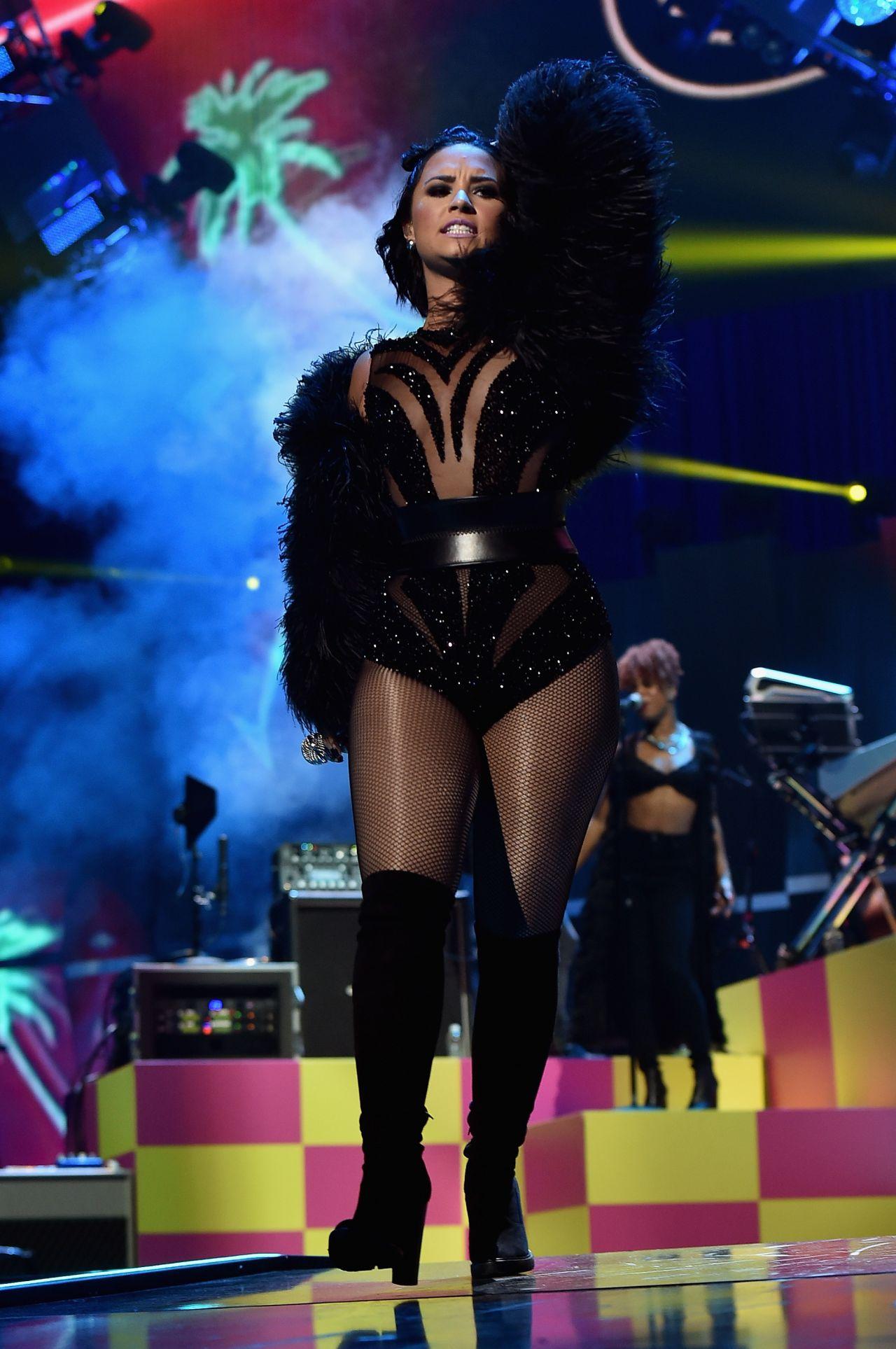 Demi Lovato Performs Iheartradio Music Festival Las Vegas September 15