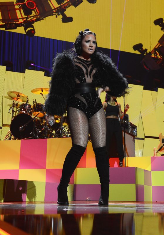 Demi Lovato Performs at iHeartRadio Music Festival in Las Vegas, September 2015