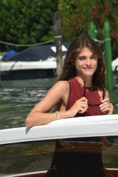 Elisa Sednaoui Arrives at the Lido for the 72nd Venice Film Festival