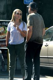 Elizabeth Berkley - Leaving Urth Cafe, September 2015