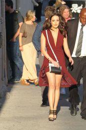 Elizabeth Gillies - Arriving at Jimmy Kimmel Live, September 2015