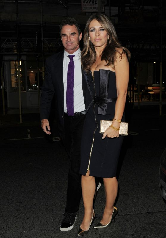 Elizabeth Hurley Attends Amanda Wakeley 25th Anniversary Party in London