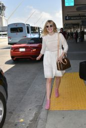 Elle Fanning at LAX Airport, September 2015