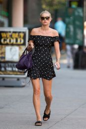 Elsa Hosk in Mini Dress - Out in New York City, September 2015