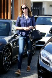 Emily Blunt in Ripped Jeans - Out in LA, September 2015
