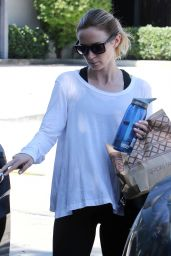 Emily Blunt - Leaving the Gym in West Hollywood, September 2015