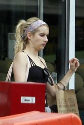 Emma Roberts and Lea Michele Shopping at Whole Foods in New Orleans, September 2015
