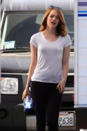 Emma Stone - La La Land Set Pics in LA, August 2015
