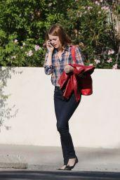 Emma Stone - La La Land Set Pics - Pasedena, September 2015