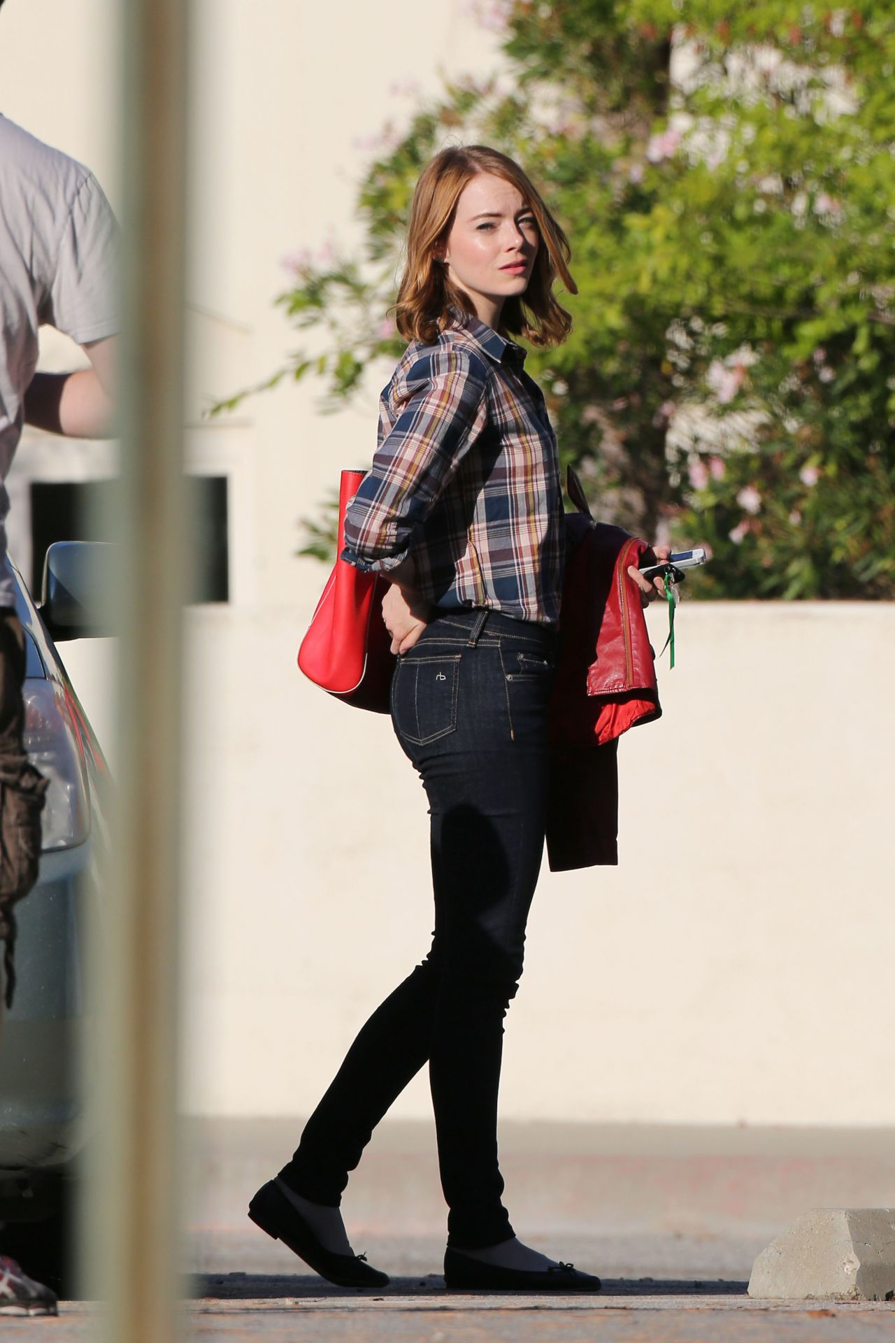 Emma Stone La La Land Set Pics Pasedena September 2015