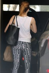 Emma Stone Leaving a Gym in West Hollywood, September 2015