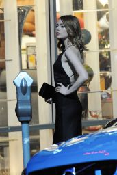 Emma Stone - On the Set of La La Land in Hollywood, September 2015
