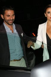 Eva Longoria With Boyfriend Leaving Mr Chow in Beverly Hills, August 2015