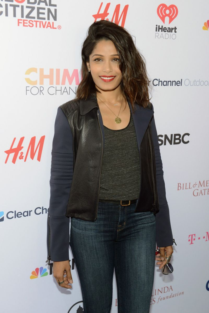Freida Pinto – 2015 Global Citizen Festival in New York City Freida Pinto