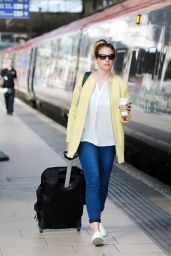 Gemma Atkinson at Manchester Station in UK, September 2015