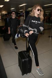 Gigi Hadid at Milan–Malpensa Airport in Italy, September 2015