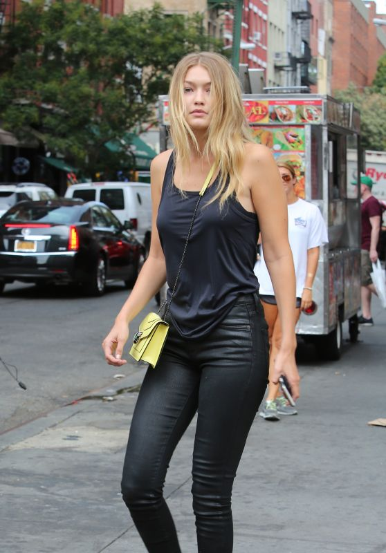 Gigi Hadid Casual Style - New York City, September 2015