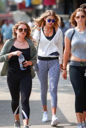 Gigi Hadid in Leggings - Out in New York City, September 2015