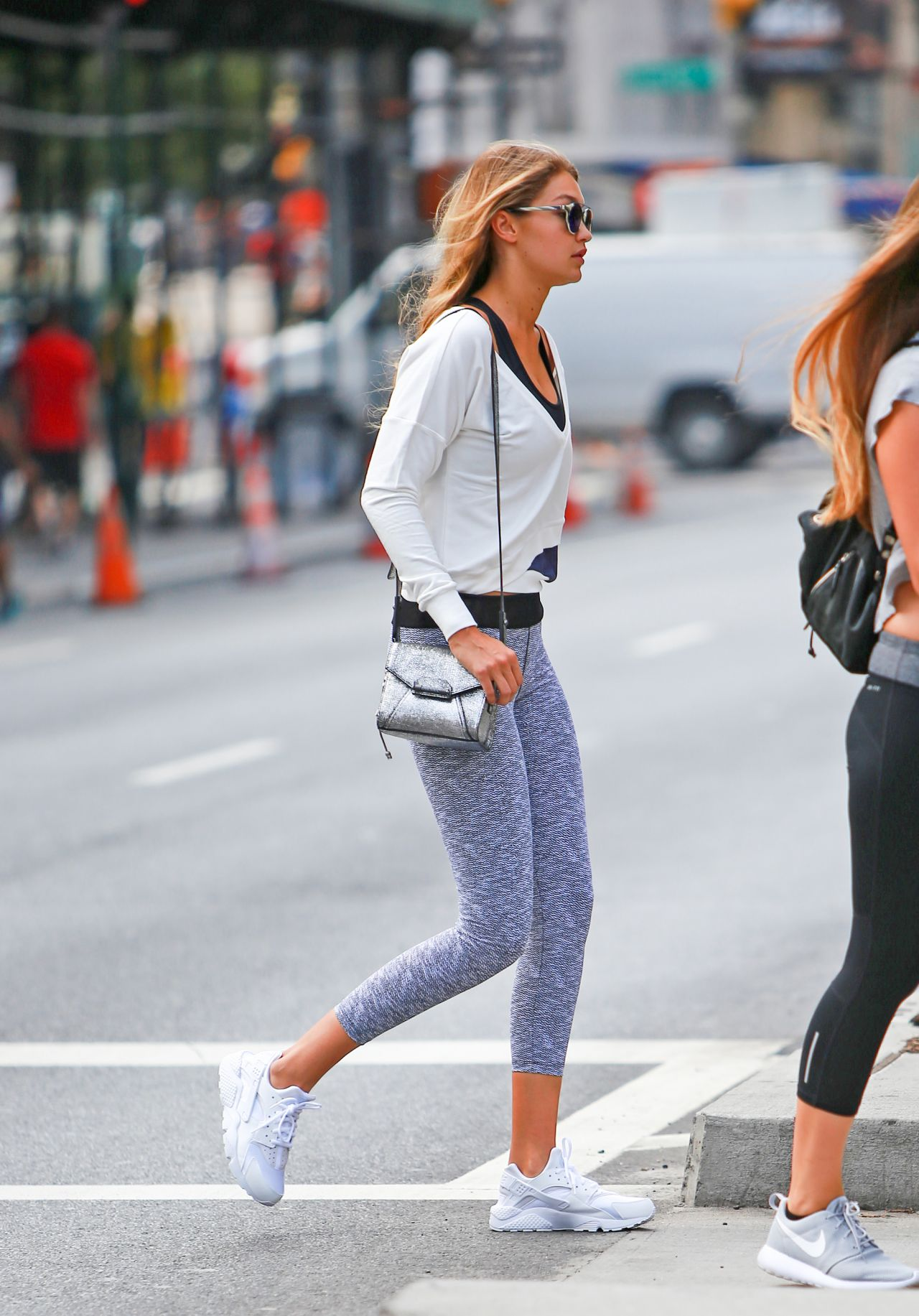 on sale online wide range full range of specifications Gigi Hadid in Leggings - Out in New York City, September 2015