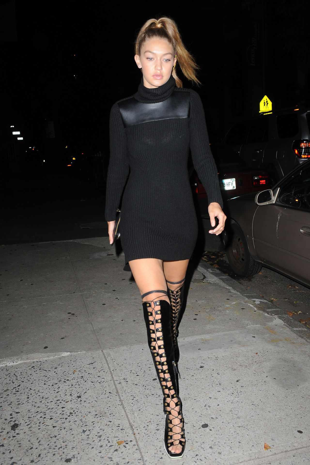 Gigi Hadid Night Out Style New York City September 2015