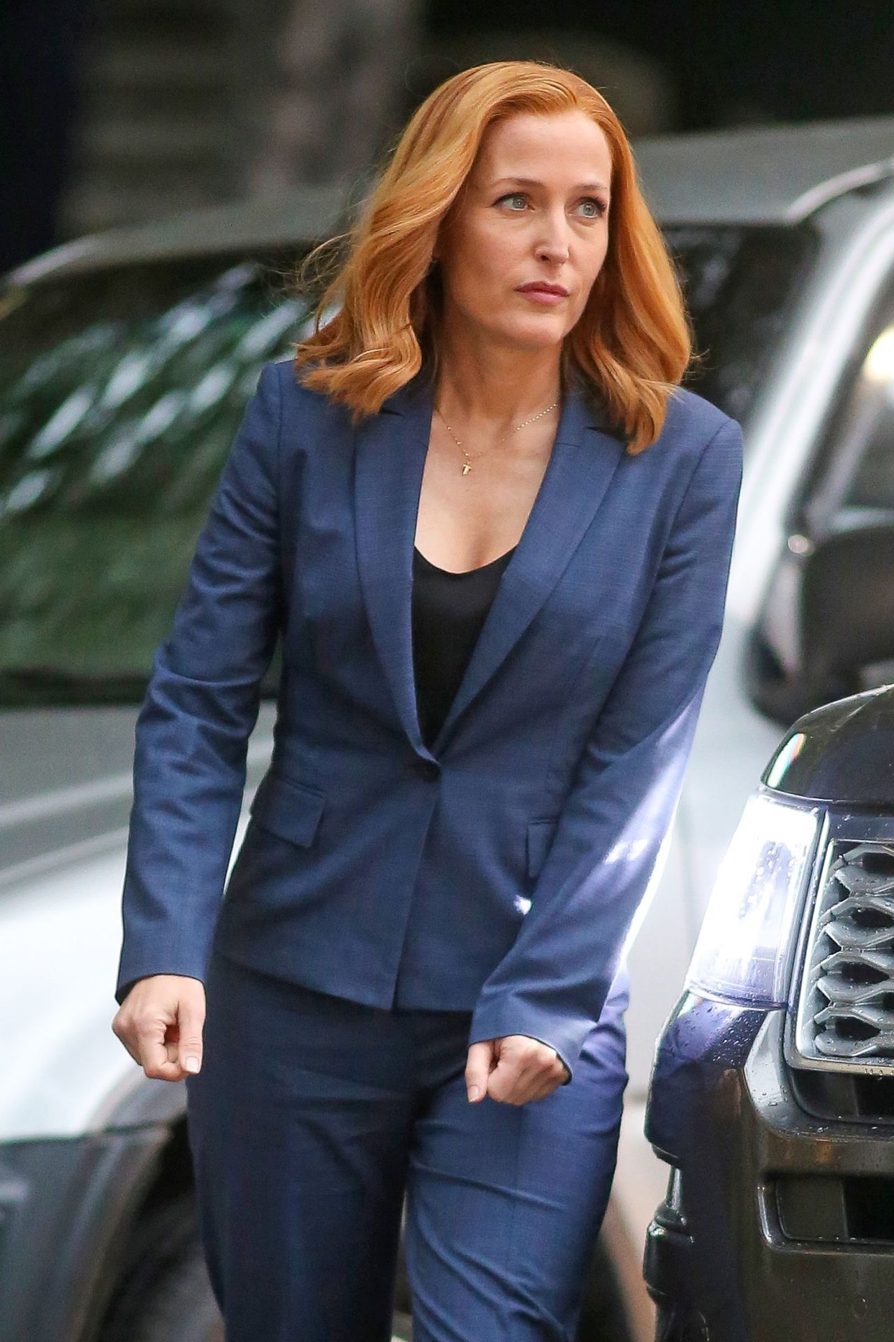 Gillian Anderson On The Set Of The X Files In Vancouver