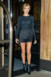 Hailey Baldwin Leaving a Hotel in New York City, September 2015