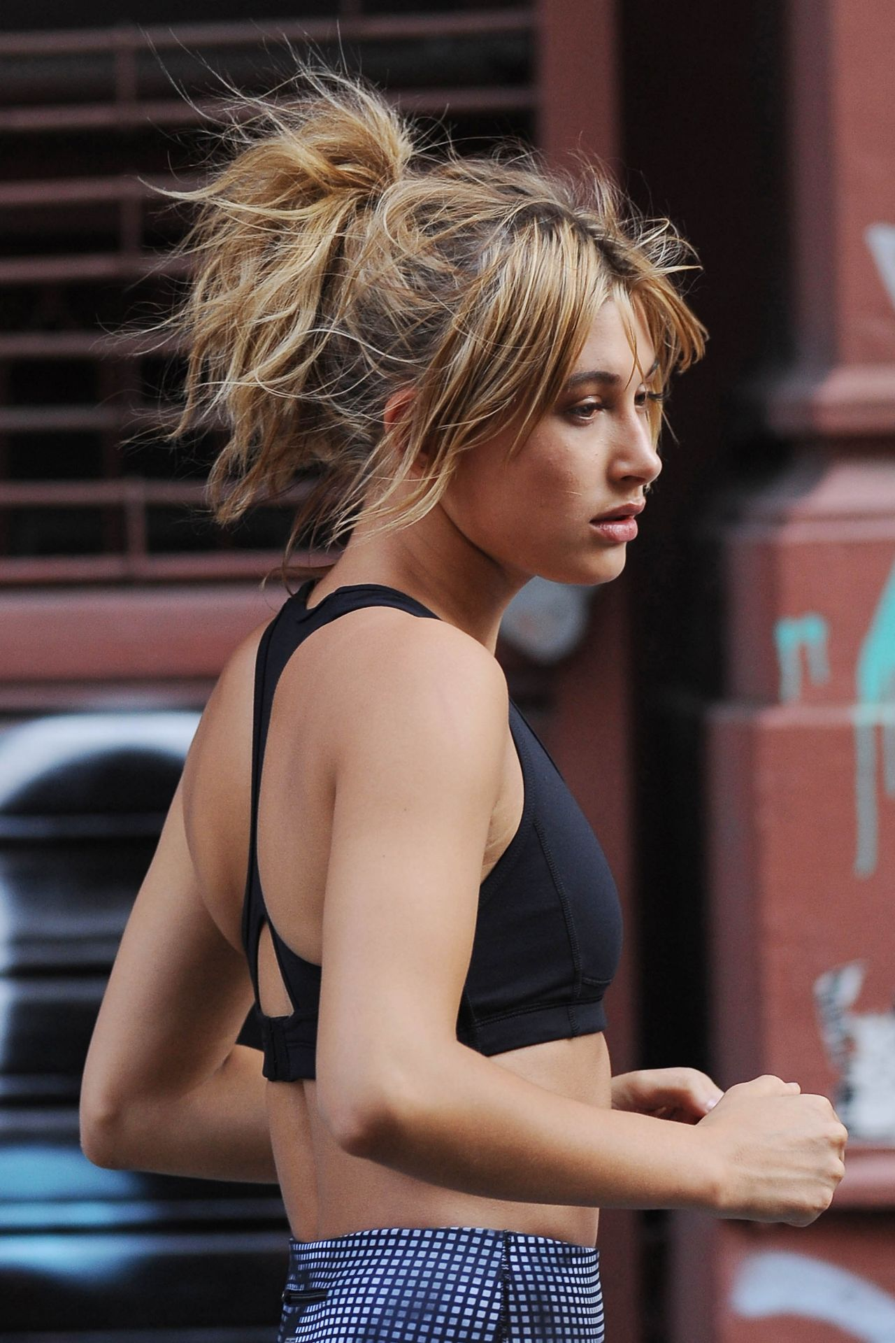 Hailey Baldwin On Set Of A Photoshoot In Nyc September 2015