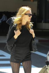 Heather Graham - departing from LAX Airport, September 2015