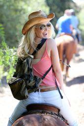 Heidi Montag - Horseback Riding With Spencer Pratt -  Celebrate Heidi