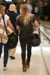Hilary Duff Airport Style - at LAX, September 2015