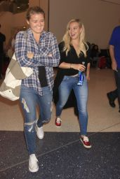 Hilary Duff Airports Style - at LAX Airport, September 2015