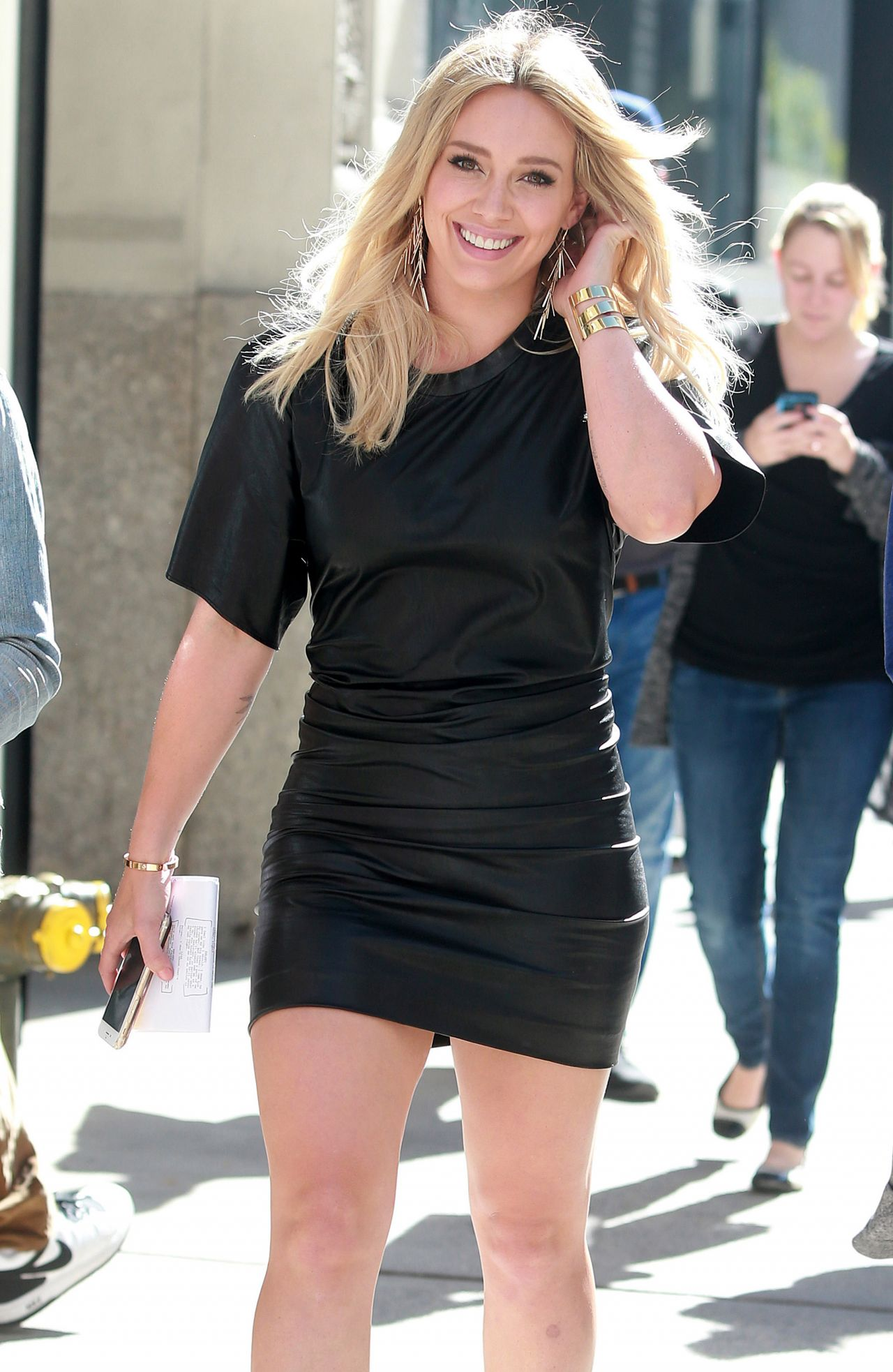 Hilary Duff Hot Style Heading To The Set Of Younger In Nyc