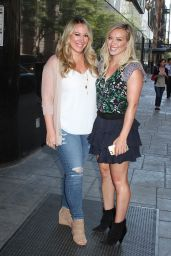 Hilary & Haylie Duff - Leaving Good Day New York in NYC, September 2015