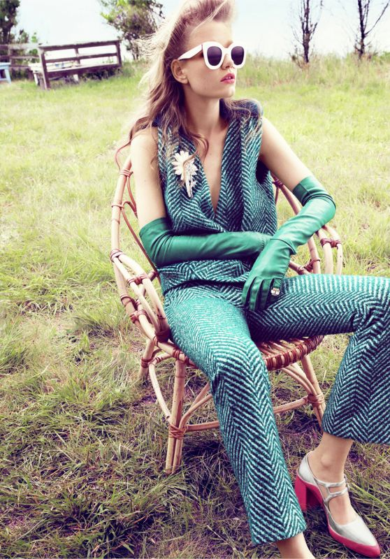 Holly May Saker - Photoshoot for Harper's Bazaar US October 2015