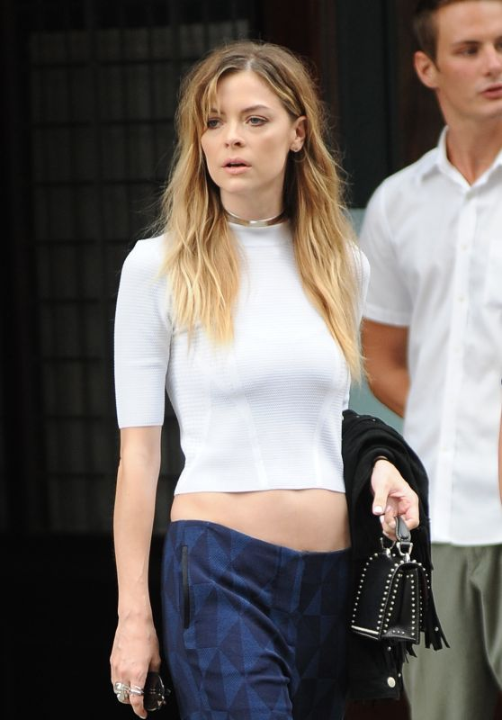 Jaime King - Leaving Her Hotel in NYC, September 2015