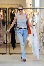 January Jones - Shopping at Zimmermann on Melrose Place in West Hollwood, September 2015