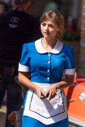 Jenna Coleman in a Waitress Costume -