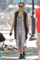 Jessica Alba at a Playgroumd in New York City, September 2015