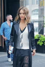 Jessica Alba Leaving a Hotel in New York City, September 2015