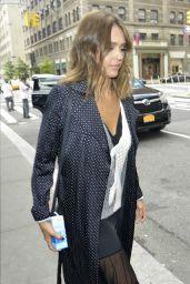 Jessica Alba Leaving a Hotel in New York City, September 2015