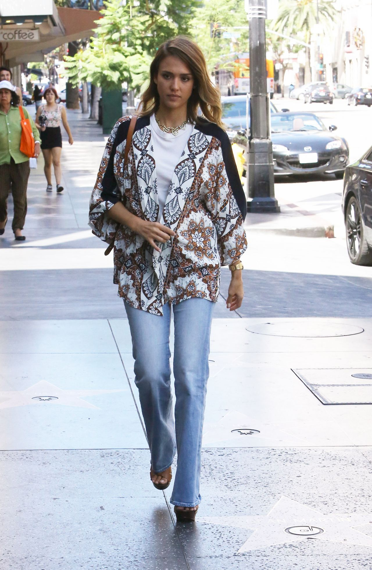 Jessica Alba Street Style Out In Hollywood September 2015