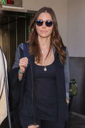 Jessica Biel Airport Style - at LAX, September 2015