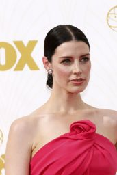 Jessica Paré on Red Carpet – 2015 Primetime Emmy Awards in Los Angeles