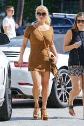 Jessica Simpson in Mini Dress - Leaving a Pharmacy in Beverly Hills, September 2015