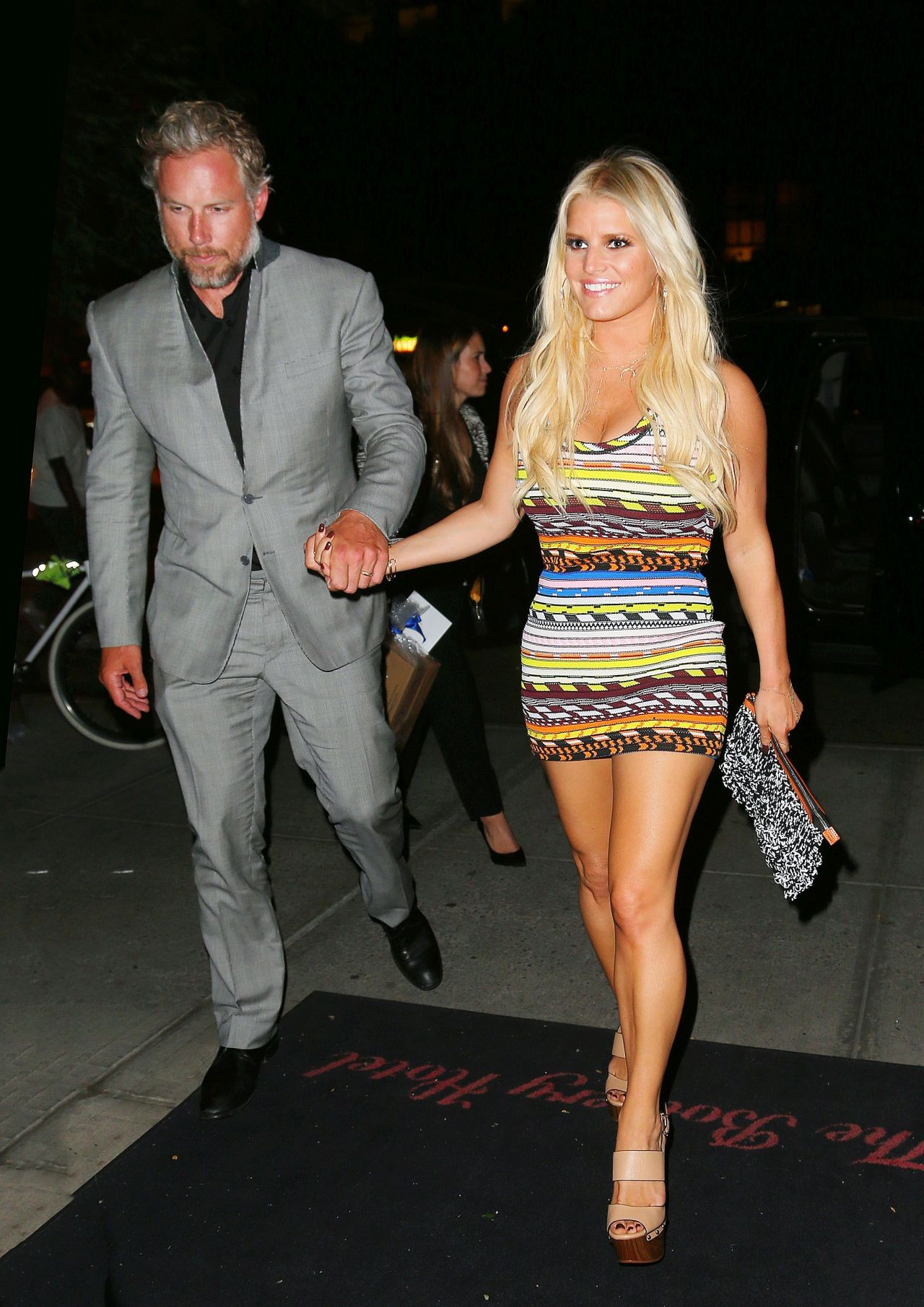 jessica simpson night out style new york city september