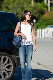Jordana Brewster - Leaves an Office Building in Beverly Hills, September 2015